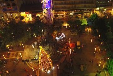 Το Χριστουγεννιάτικο Αγρίνιο από ψηλά (βίντεο)