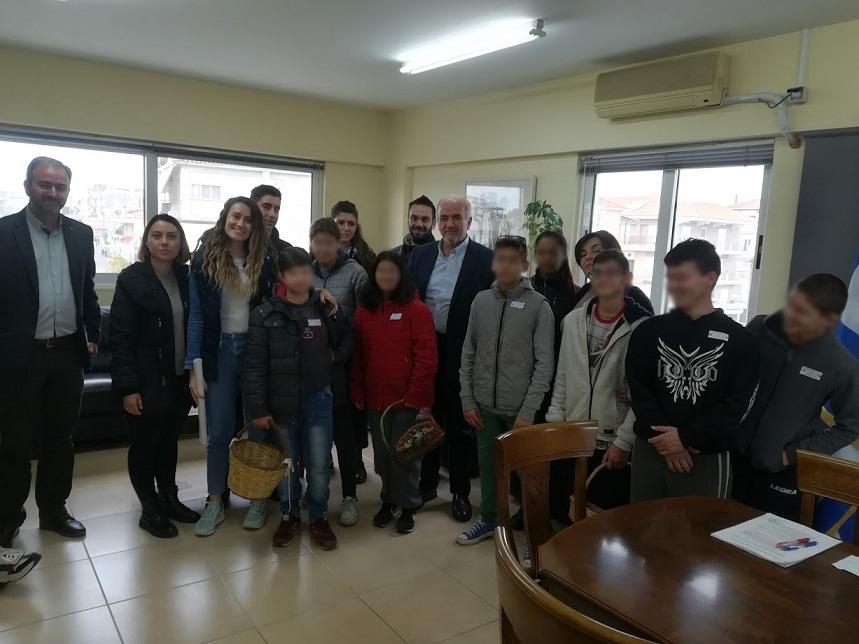 Επίσκεψη του Ειδικού Επαγγελματικού Γυμνασίου – Λυκείου Μεσολογγίου στον δήμαρχο