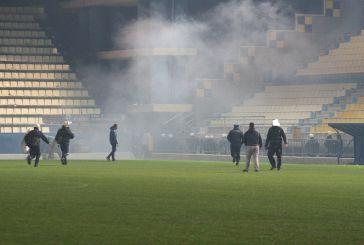 Ένταση στο γήπεδο μετά τη λήξη του Παναιτωλικός-Ολυμπιακός (βίντεο-φωτό)