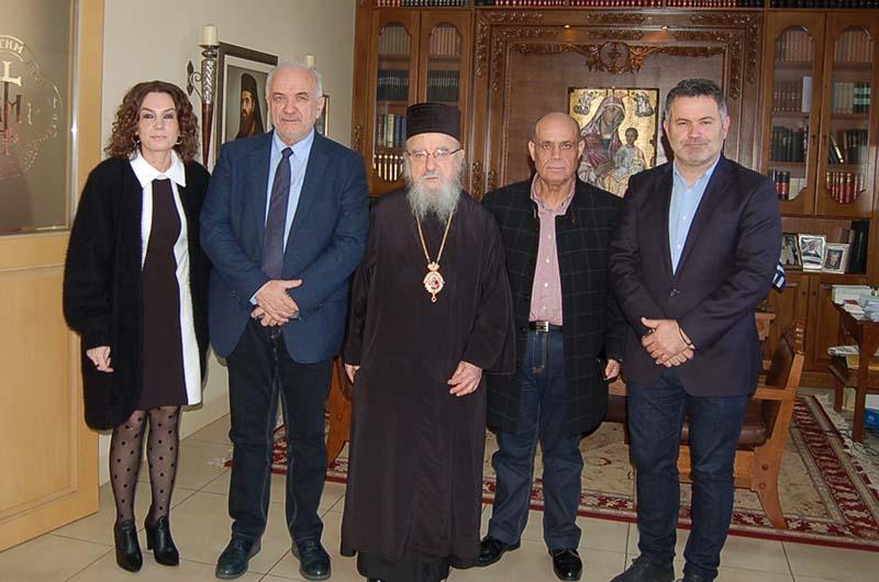 Η συνεργασία σε κοινωνικές και πολιτιστικές δράσεις στο επίκεντρο συνάντησης Λύρου – Μητροπολίτη