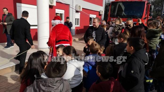 Ο Άγιος Βασίλης μοίρασε δώρα στην Πυροσβεστική Υπηρεσία Ναυπάκτου (φωτο & βίντεο)