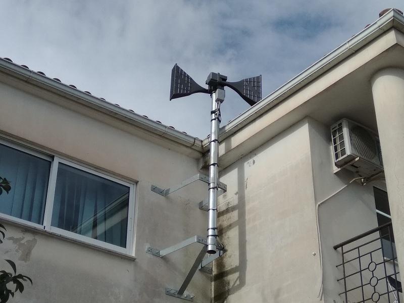 Ηλεκτρονική Σειρήνα ειδοποίησης στο κτίριο της Κοινότητας Καλυβίων