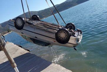 Βουτιά οχήματος στη θάλασσα στον Αστακό (φωτό)
