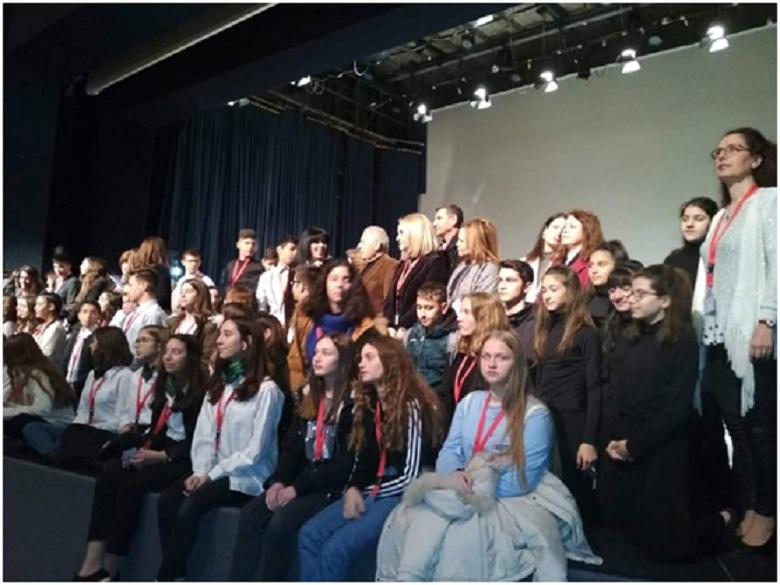 Μαθητές του Δευτέρου Γυμνασίου Μεσολογγίου σε συνέδριο αφιερωμένο στον Κωστή Παλαμά