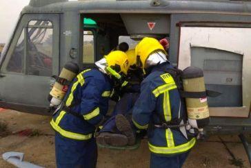 Εκπαίδευση πυροσβεστών του FOB Ακτίου στην «Πυρόσβεση και Διάσωση Αεροδρομίων»