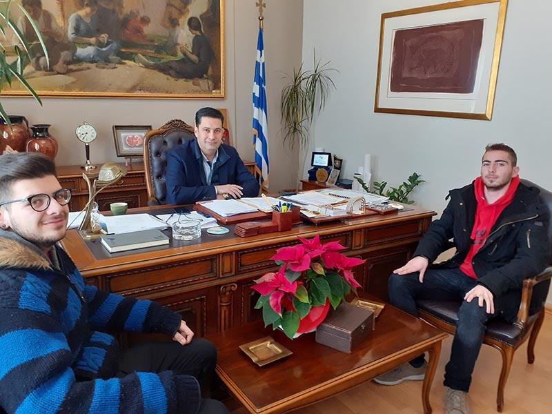 Με φοιτητές του ΔΠΠΝΤ συναντήθηκε ο δήμαρχος