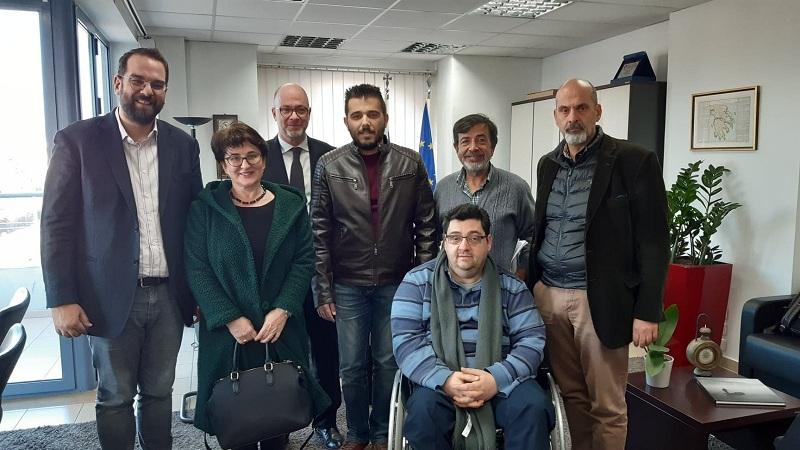 Στον Περιφερειάρχη το προεδρείο της Περιφερειακής Ομοσπονδίας Ατόμων με Αναπηρία