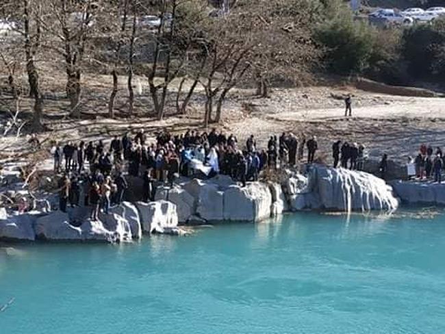 Για πρώτη φορά αγιάστηκαν τα νερά στη γέφυρα της Τέμπλας