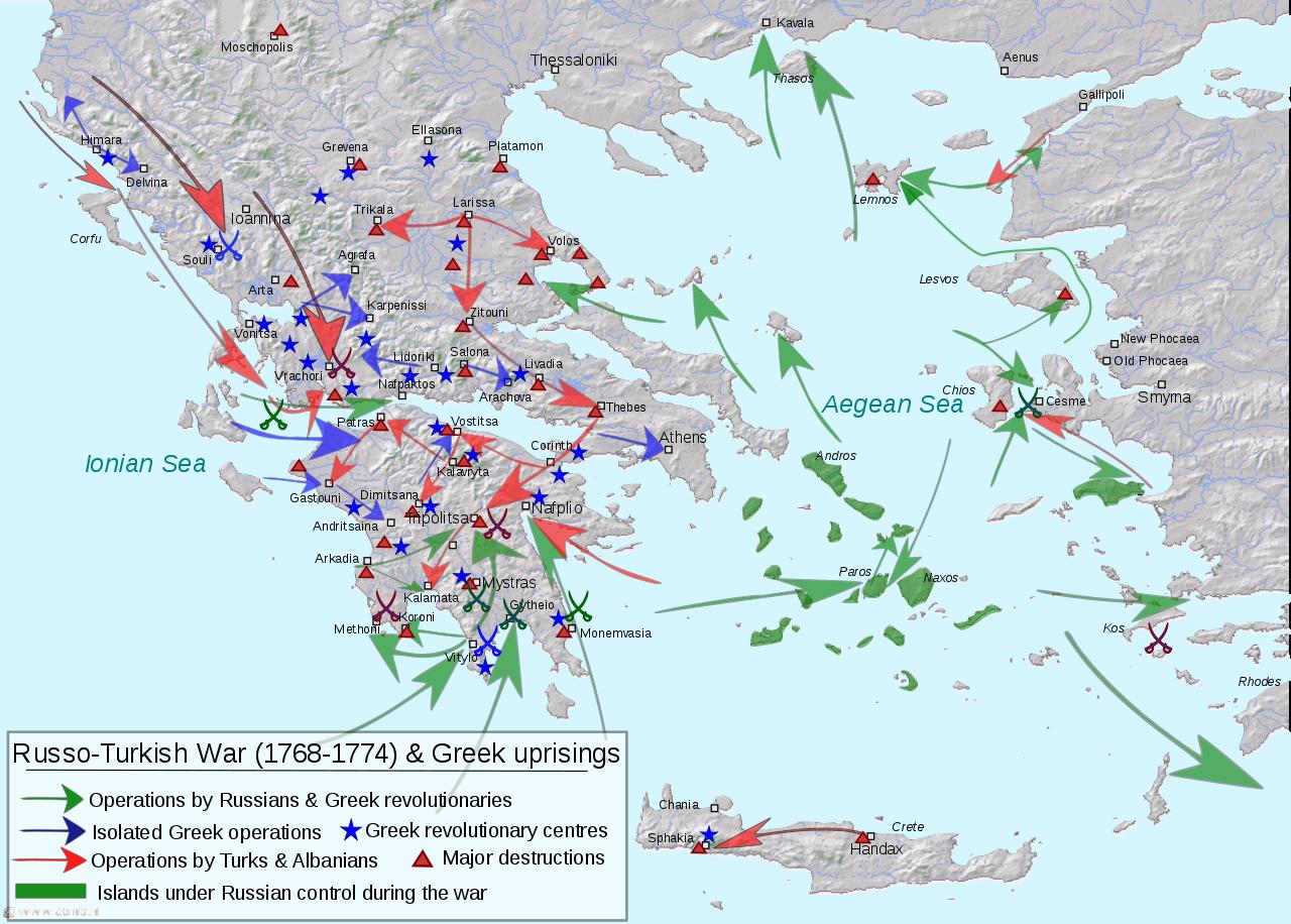 Η άγνωστη πολιορκία του Βραχωρίου από τους Έλληνες επαναστάτες με αρχηγό τον Γουλιμή από το Αγγελόκαστρο  τον Μάρτιο του 1770.