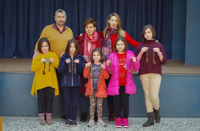 Μαθήτριες του 12ου Δημοτικού Σχολείου Αγρινίου δώρισαν τα μαλλιά τους για καλό σκοπό