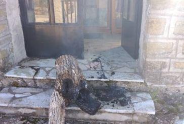 Περίεργη φωτιά σε μνημείο- προσκυνητάρι απ' όπου πέρασε ο Άγιος Κοσμάς στον Oρεινό Βάλτο