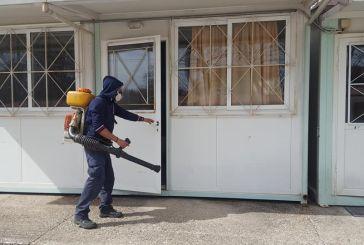 Προληπτική απολύμανση σε δημόσια κτίρια και στο Θέρμο (φωτο)