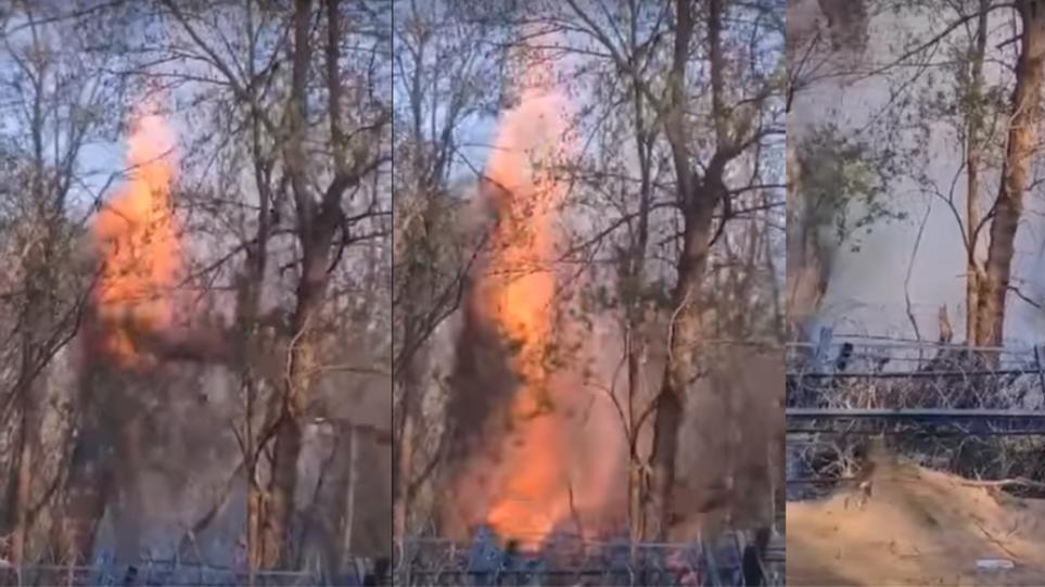 Επεισόδια στον Έβρο: Μετανάστες επιχείρησαν να ρίξουν φλεγόμενο δέντρο στον φράκτη στις Καστανίες