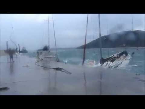 Ημιβύθιση ιστιοφόρου σκάφους στη Βόνιτσα