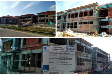 Με μεγάλη πρόοδο εργασιών προχωρά το νέο κτίριο του δημοτικού σχολείου και νηπιαγωγείου Μύτικα