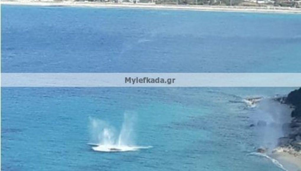 Λευκάδα: Εξουδετερώθηκε νάρκη στην παραλία Καμίνια στους Τσουκαλάδες
