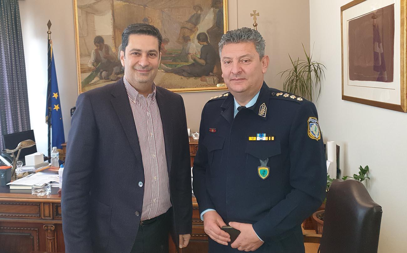 Συνάντηση του Δημάρχου Αγρινίου με τον νέο Αστυνομικό Διευθυντή