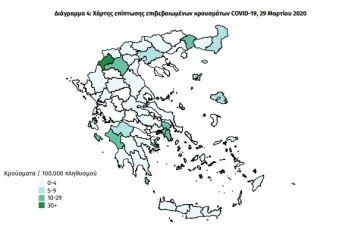 Έκθεση ΕΟΔΥ: Η Αιτωλοακαρνανία στους λίγους νομούς χωρίς επιβεβαιωμένο κρούσμα κορονοϊού