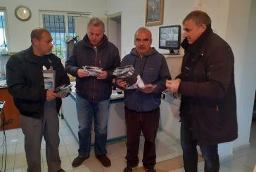 Το Σωματείο Εργαζομένων δήμου Μεσολογγίου μοίρασε προστατευτικές μάσκες προσώπου