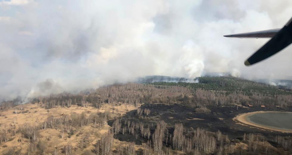 Δασική φωτιά στο Τσερνόμπιλ – Αυξήθηκε η ραδιενέργεια στην περιοχή