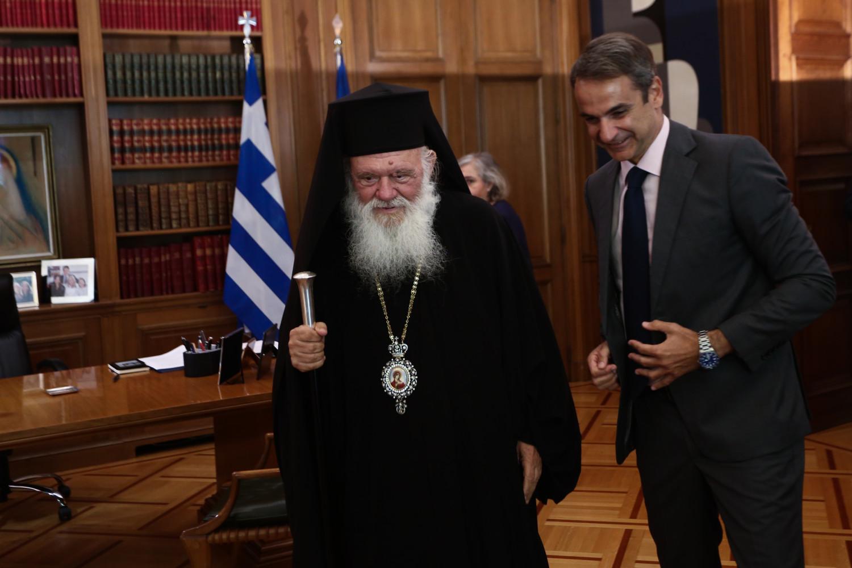 Ιερώνυμος σε Μητσοτάκη: Η Εκκλησία θα ακολουθήσει τις υποδείξεις των Αρχών