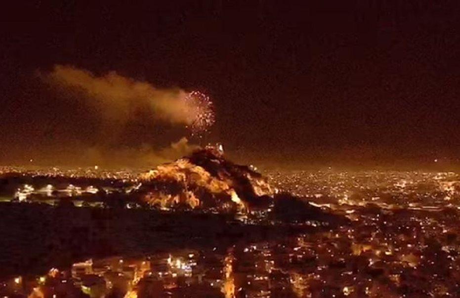 Βίντεο: Μαγευτικές εικόνες από τον Αττικό ουρανό λίγα λεπτά μετά την Ανάσταση
