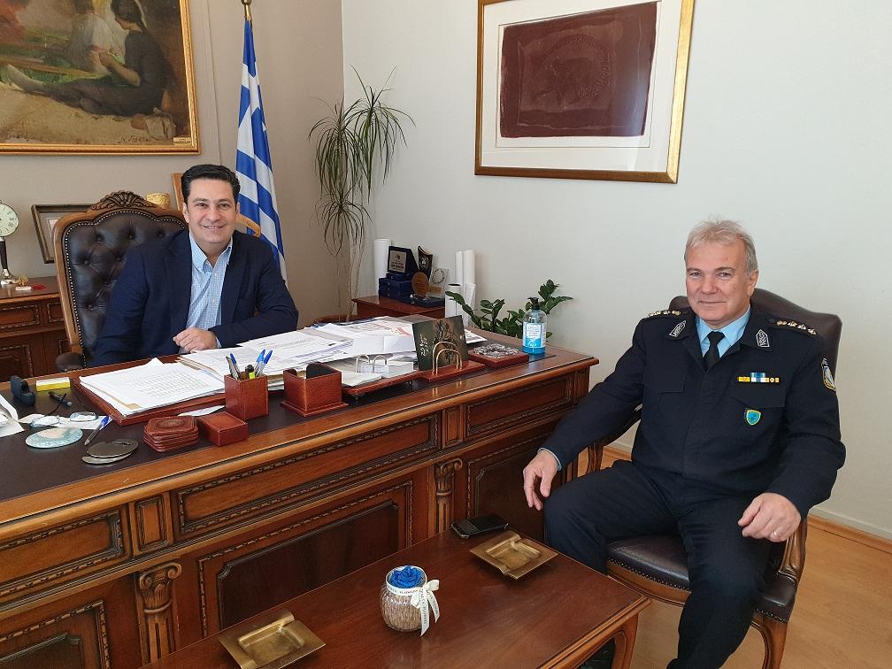 Με το νέο Αστυνομικό Διευθυντή Κωνσταντίνο Κακούση συναντήθηκε ο Δήμαρχος Αγρινίου