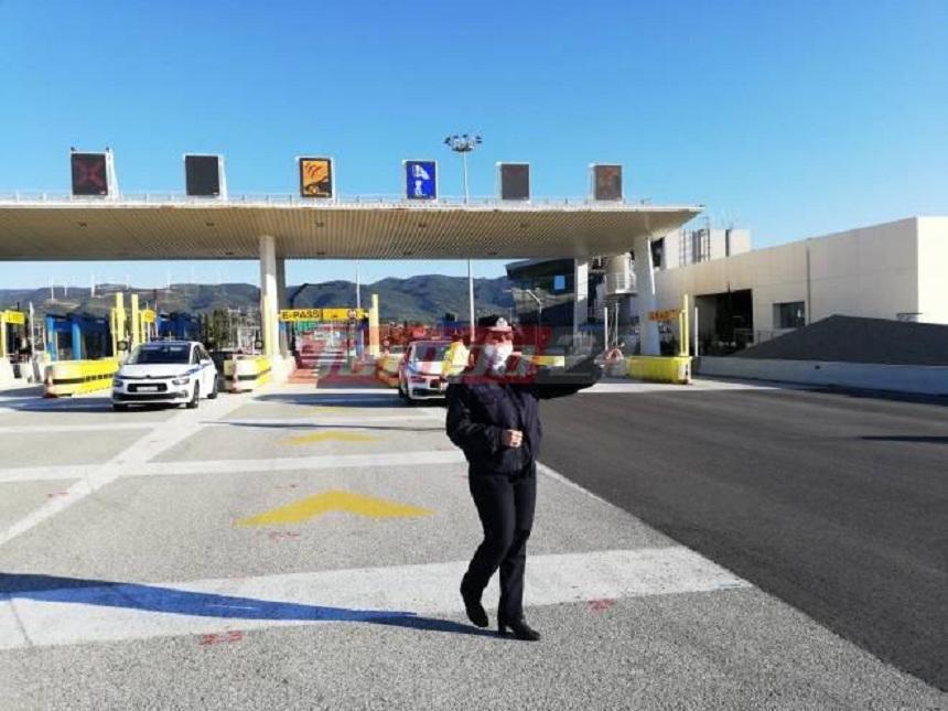 Μπλόκα από την Αστυνομία στη Γέφυρα Ρίου-Αντιρρίου ενόψει Μεγάλης Εβδομάδας (φωτο)