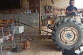 Kαλύβια: Έψησε τον οβελία με… τρακτέρ