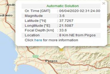 Σεισμός τα ξημερώματα στον Πύργο