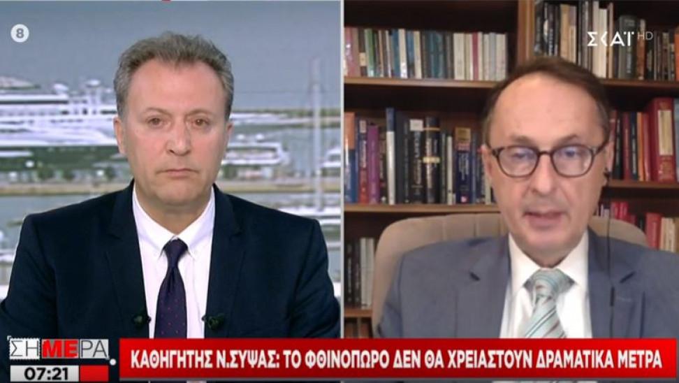 """Καθηγητής Σύψας για κορωνοϊό: Θα μπορέσουμε να κάνουμε διακοπές- """"Επιλεγμένος""""  τουρισμός από το εξωτερικό"""