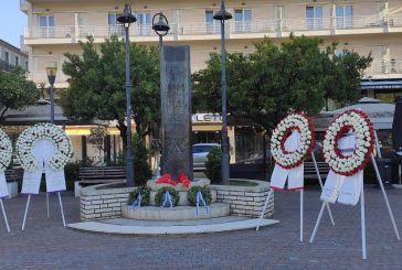 Aγρίνιο: Στεφάνια στη μνήμη των απαγχονισθέντων ηρώων του 1944