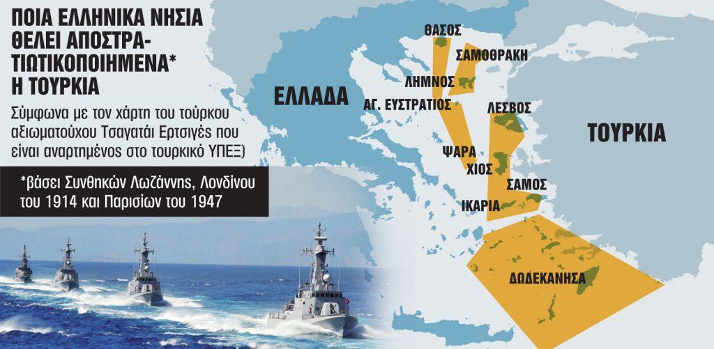 Γιατί η Τουρκία ανακινεί ζήτημα αποστρατιωτικοποίησης των νησιών του Αιγαίου