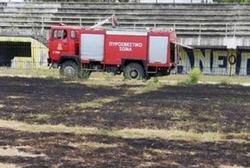 Φωτιά στο γήπεδο του Αιτωλικού