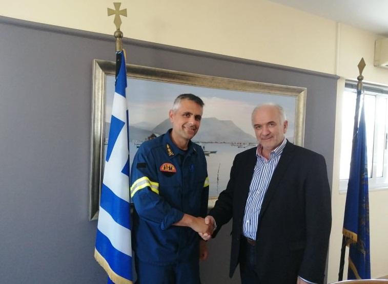 Συνάντηση Λύρου με το νέο Διοικητή της Πυροσβεστικής Μεσολογγίου