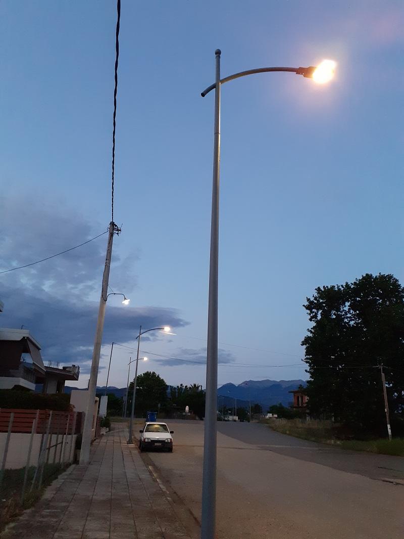 Δοκίμι: Φώτα στο γήπεδο και αναβάθμιση του ηλεκτροφωτισμού στην οδό Αεροδρομίου