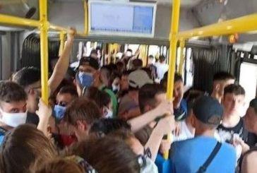 Απίθανη φωτογραφία: Του… συνωστισμού το κάγκελο στο λεωφορείο Ελληνικό-Σαρωνίδα!