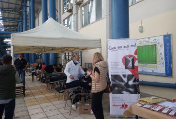 Μεγάλη συμμετοχή στην αιμοδοσία και στα τεστ κορωνοϊού στο γήπεδο του Παναιτωλικού