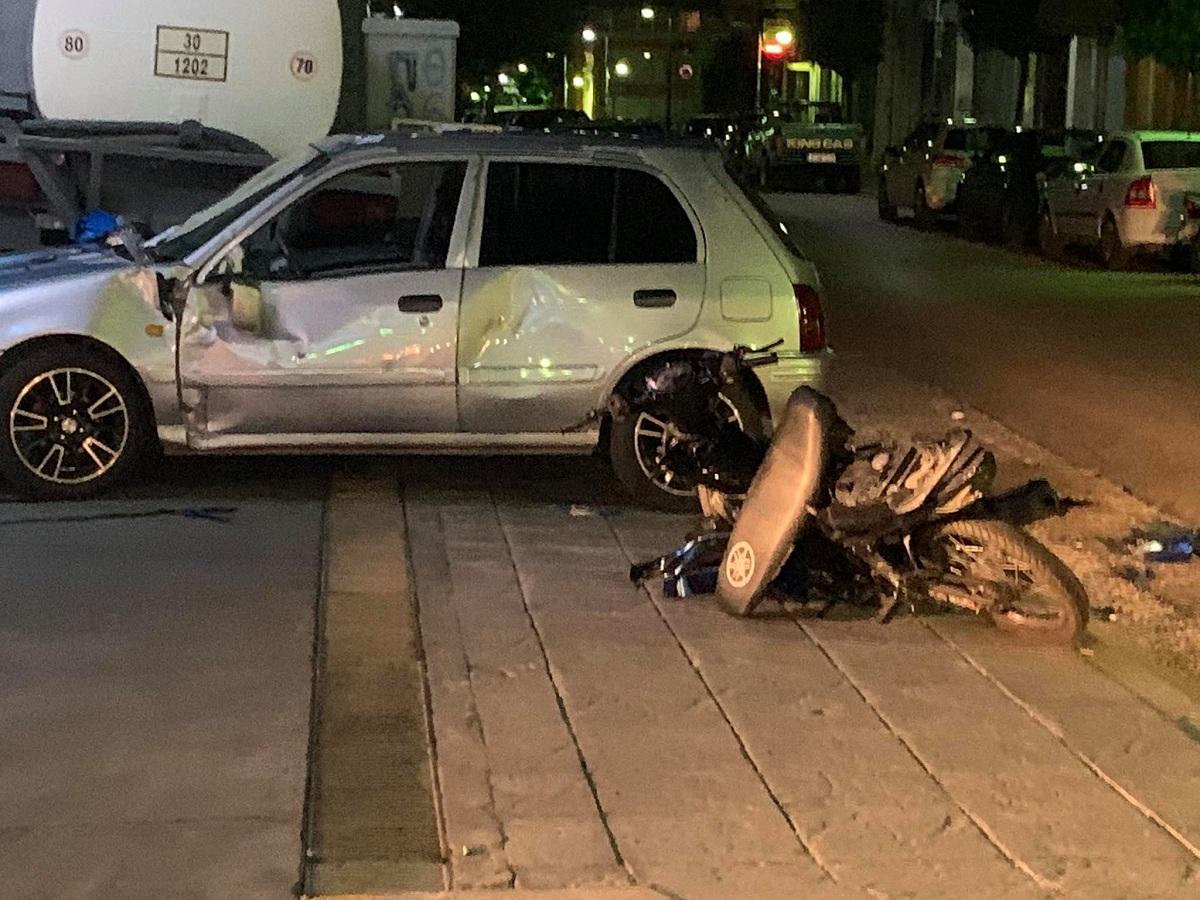 Tραυματισμός δικυκλιστή σε νυχτερινό τροχαίο στο Αγρίνιο