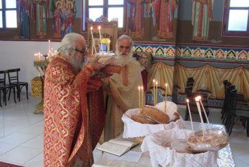 Η Θεία Λειτουργία στον Ι.Ν. των Αγίων Κωνσταντίνου και Ελένης Φλωριάδας Βάλτου (βίντεο)