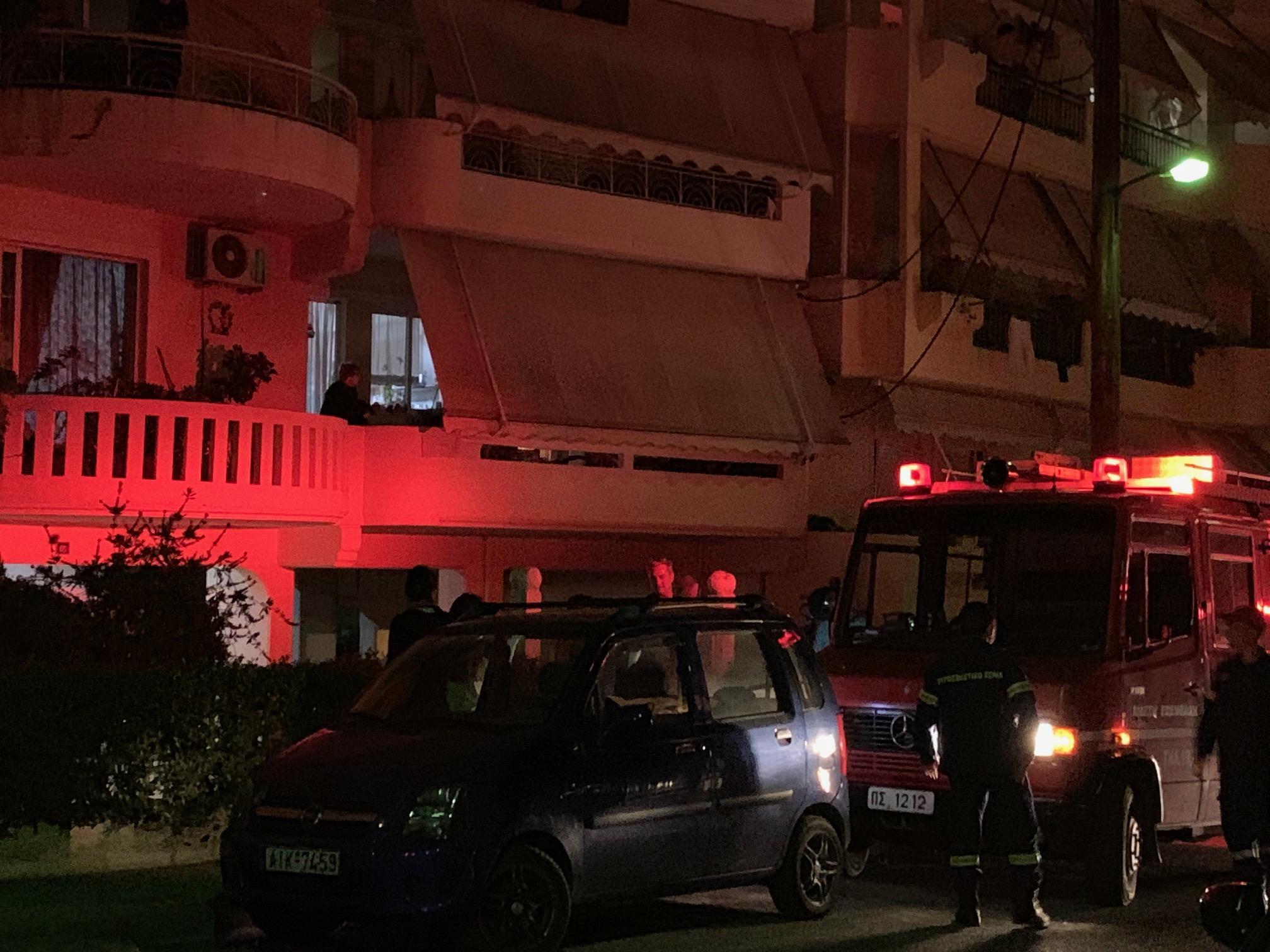 Φωτιά σε διαμέρισμα της οδού Φιλελλήνων στο Αγρίνιο