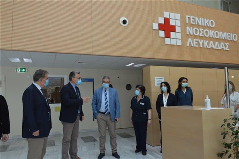 Επίσκεψη του Διοικητή της 6ης ΥΠΕ στο Νοσοκομείο Λευκάδας
