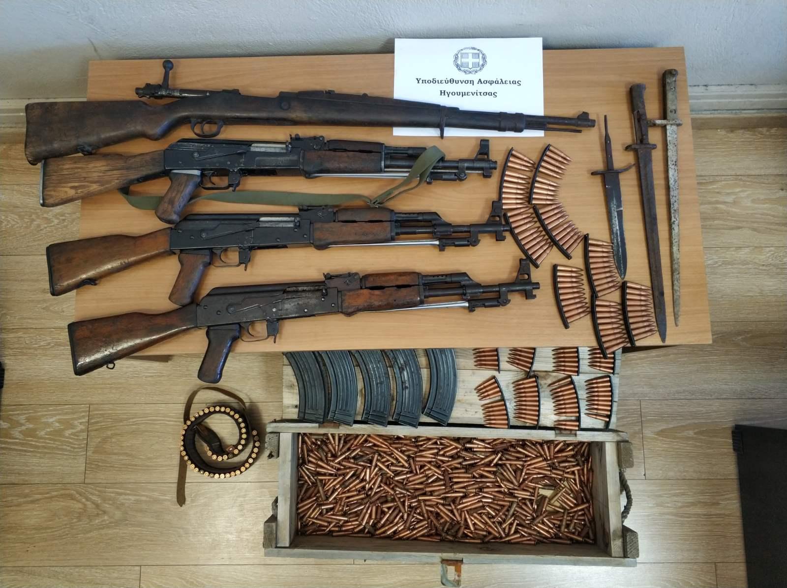 Ηγουμενίτσα: βοσκός είχε στο σπίτι του βαρύ πολεμικό οπλισμό