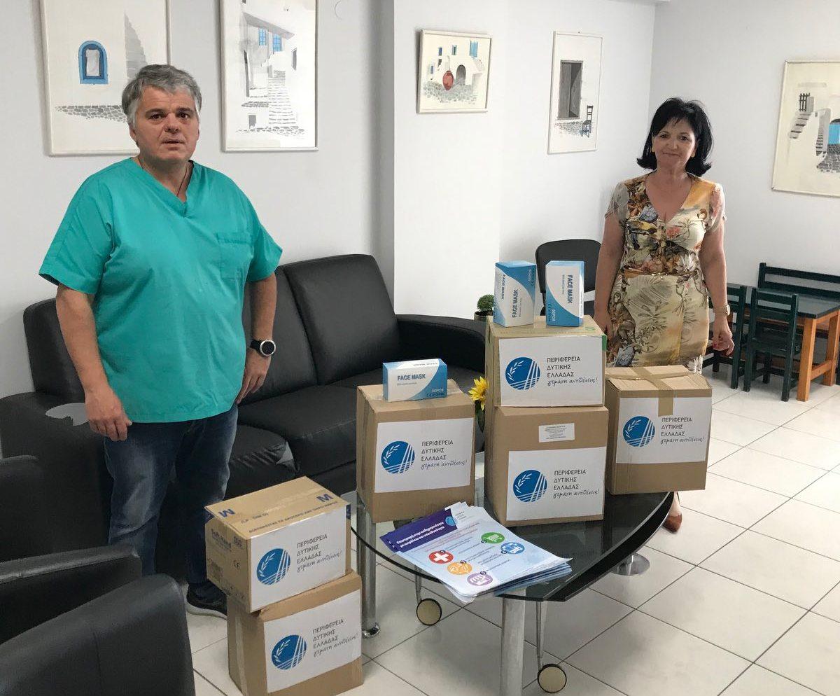Διανομή υγειονομικού υλικού στο Μεσολόγγι από την Περιφέρεια