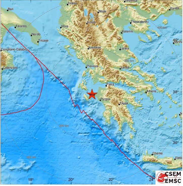 """""""Ταρακούνημα"""" και στο Αγρίνιο από σεισμό στην Κυλλήνη"""