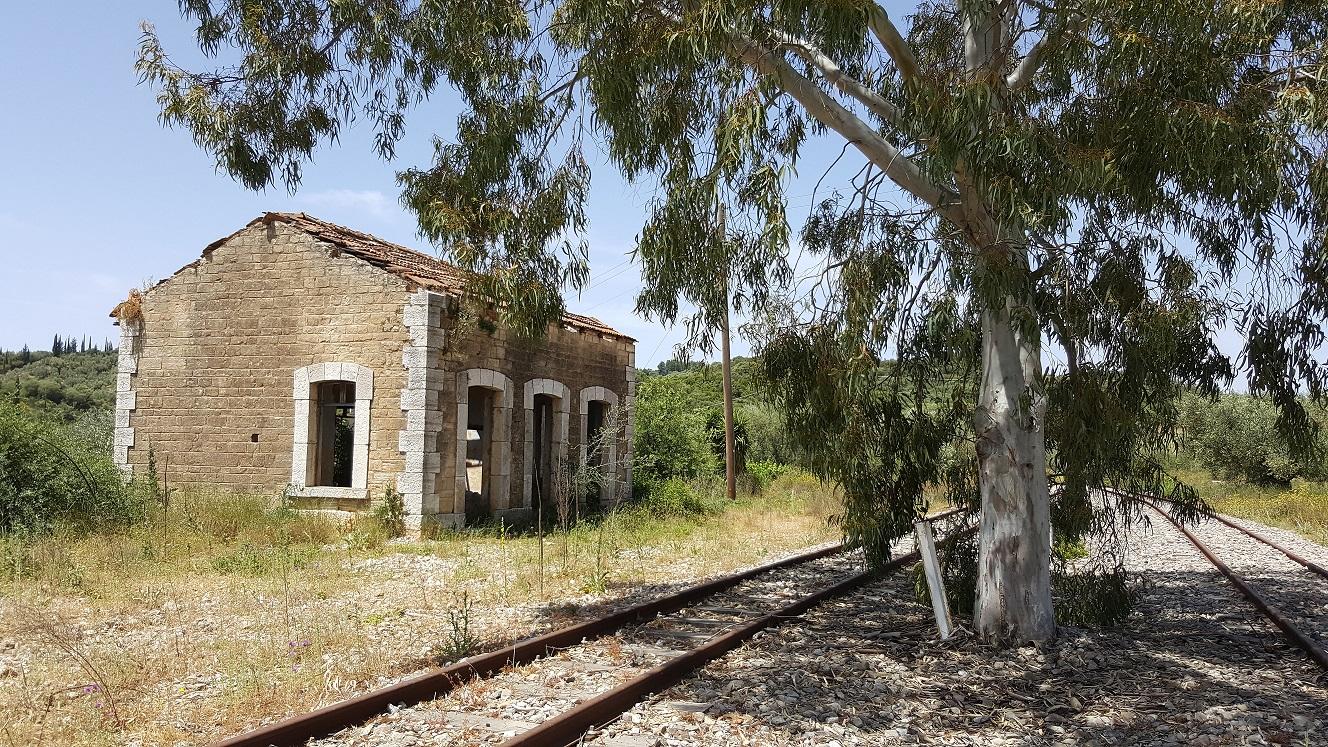 Ο παλιός σταθμός του τραίνου στην Σταμνά