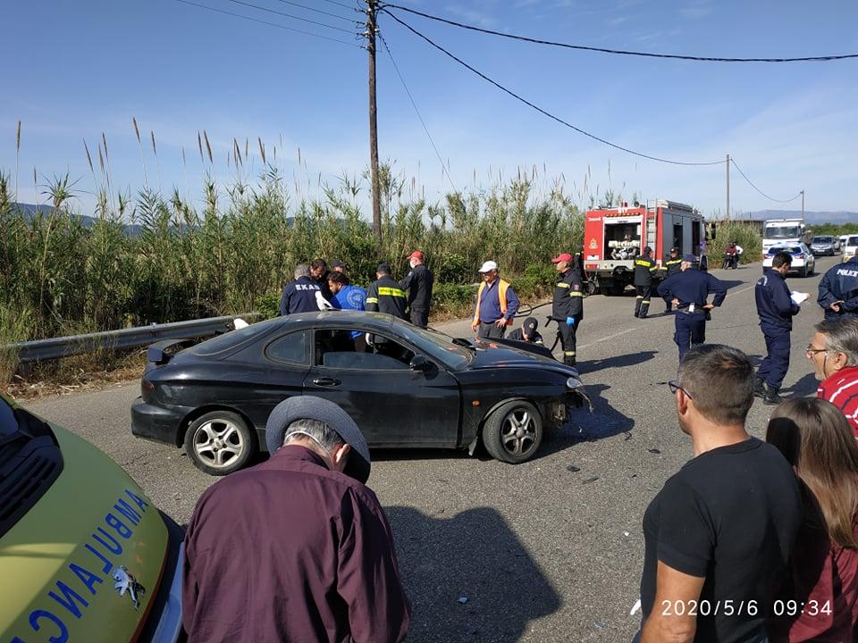 Σφοδρή σύγκρουση οχημάτων κοντά στο Δοκίμι- τρία άτομα στο νοσοκομείο