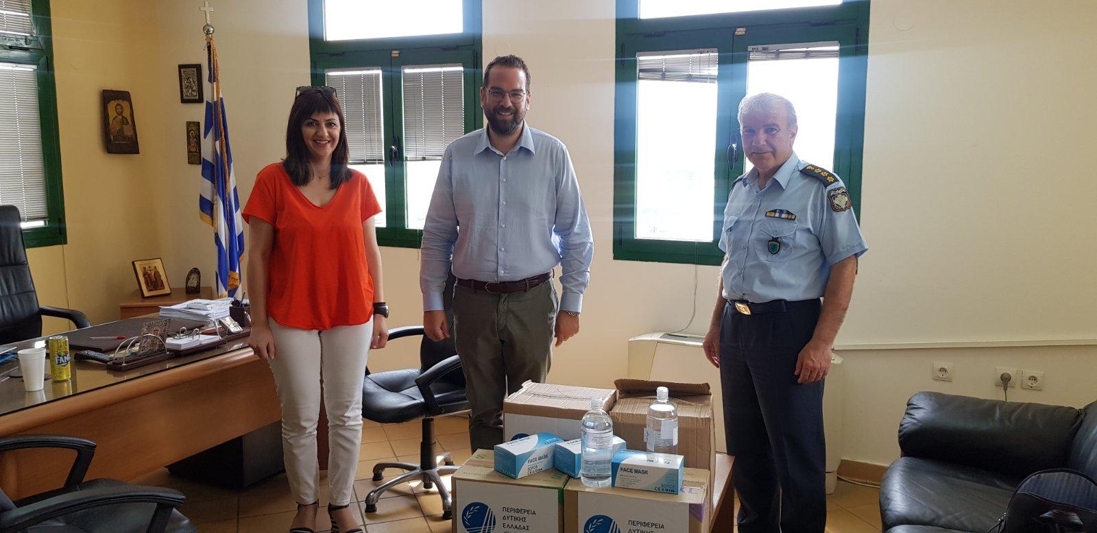 Διανομή υγειονομικού υλικού από την Περιφέρεια σε φορείς του Αγρινίου
