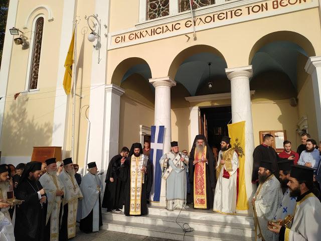 Eόρτασε με λαμπρότητα ο Ιερός Ναός Αγίας Τριάδος Αγρινίου