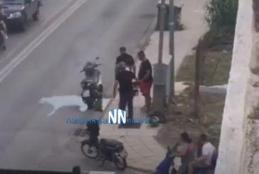 Ναύπακτος: δίκυκλο πήρε φωτιά εν κινήσει (βίντεο)